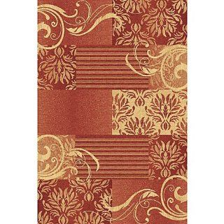 Donnieann Lex 343 Floral Design 5 by 7 Feet Area Rug, Red