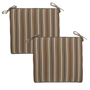 Hampton Bay Wheaton Stripe Deluxe Outdoor Chair Cushion (2 Pack) 7347 02222100