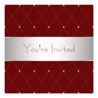 Red Wine Red Corporate Party Personalized Invite