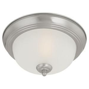 Thomas Lighting 2 Light Flush Mount Brushed Nickel Ceiling Fixture SL878278