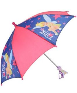 "Disney Fairies ""Tink"" Girl's Pink 3D Tinkerbelll Molded Handle Umbrella Clothing"