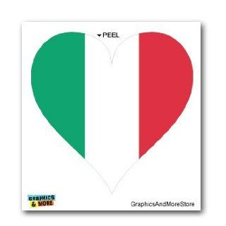 Italy Italian Flag Heart   Window Bumper Laptop Sticker Automotive