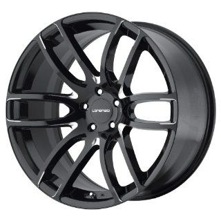 Lorenzo WL036 22 Black Wheel / Rim 5x120 with a 38mm Offset and a 74.1 Hub Bore. Partnumber WL03622952338 Automotive