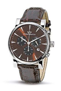 Philip Men's Wales Chronograph Watch R8271693055 with Quartz Movement, Brown Dial and Stainless Steel Case at  Men's Watch store.