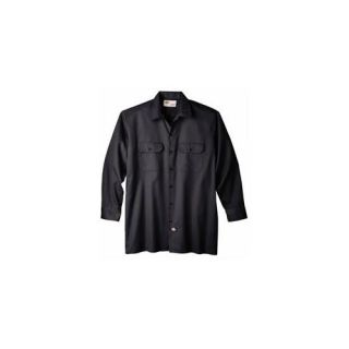 Dickies Extra Large Black Mens Long Sleeve Work Shirt  WL574BK XL ARCHIVE