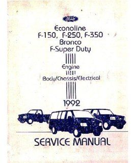 1992 Ford Truck F150 F350 Econoline Shop Service Repair Manual Book Engine OEM Automotive