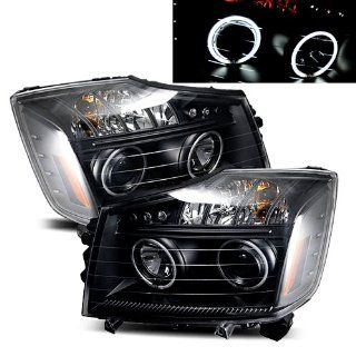 Nissan Titan Black CCFL Halo Projector Headlights /w Amber & LED Automotive