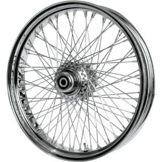 Paughco Chrome Round 80 Spoke 21x3.25 Front Wheel , Position Front, Rim Size 21, Color Chrome 06 109 Automotive
