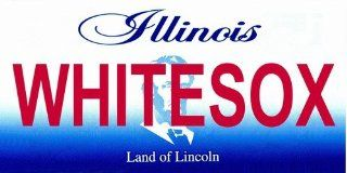 LP 2078 Illinois State Background License Plates   White Sox  Other Products