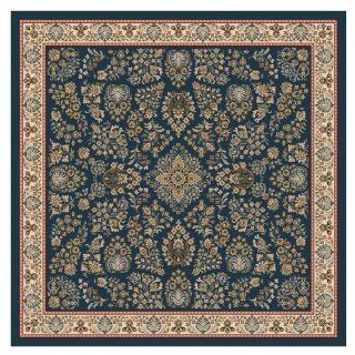"Milliken Pastiche Stainmaster Halkara 7416C / 615 7'7"" x 7'7"" Candle Blue Square Area Rug"