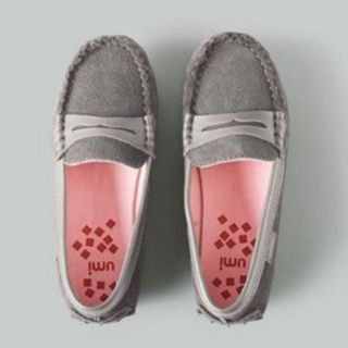 Umi Pewter Slip On Moccasin Pebble Rubber Outer Sole Toddler Girls 8.5 Flats Shoes Shoes