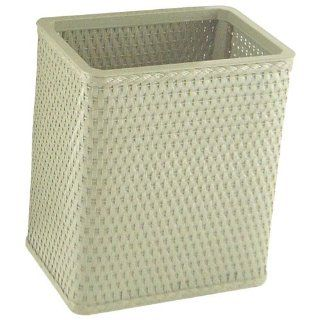 Chelsea Collection Decorator Color Square Wicker Wastebasket S426SG   Waste Bins