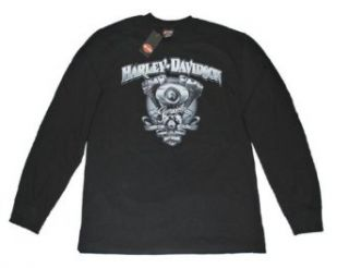 House of Harley Davidson® Men's Long Sleeve Black Tee Shirt. Graphics. All Cotton. 30290514 DD 19 at  Men's Clothing store