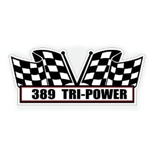 Air Cleaner Engine Decal   389 Tri Power for Pontiac GTO Grand Prix Classic Muscle Car   5x2.25 inch Automotive