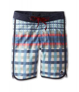 Volcom Kids Scallaid Boardshort Boys Swimwear (Navy)