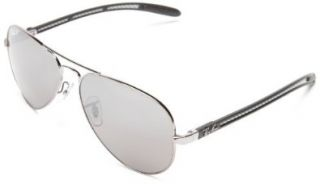 Ray Ban ORB8307 004/N8 Aviator Sunglasses,Gunmetal Frame/Crystal Polar Grey/Mirror Silver Green Lens,58 mm Ray Ban Clothing