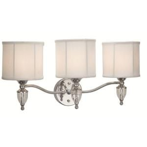 Hampton Bay Waterton Collection 3 Light Chrome Sconce EW0374CH
