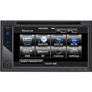 "Clarion VX401 6.2"" In Dash Double Din Touchscreen DVD/CD//USB Receiver with Bluetooth  Vehicle Dvd Players"