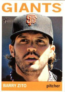 2013 Topps Heritage MLB Trading Card # 404 Barry Zito San Francisco Giants Sports Collectibles