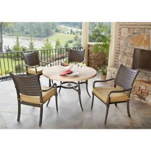 Hampton Bay Madison 2012 5 Piece Patio Dining Set DISCONTINUED 125 002 5D GF