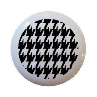 Houndstooth Pattern Black White Ceramic Knobs Pulls Kitchen Drawer Cabinet 421   Cabinet And Furniture Knobs