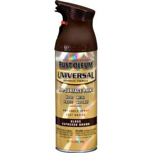 Rust Oleum Universal 12 oz. All Surface Gloss Espresso Brown Spray Paint and Primer in One (6 Pack) 245215