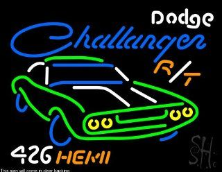 "Dodge Challenger 426 Hemi Clear Backing Neon Sign 24"" Tall x 31"" Wide  Business And Store Signs"