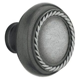 Baldwin 5064.452.idm Ddistressed Antique Nickel Half Dummy 5064 Solid Brass Knob with Your Choice of Rosette   Doorknobs