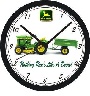 JOHN DEERE LAWN TRACTOR WALL CLOCK FREE USA SHIP