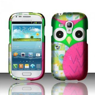 For Samsung Galaxy Mini i8190 (AT&T) Rubberized Design Cover   Owl Design Cell Phones & Accessories