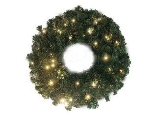 "30"" Pre Lit Battery Operated LED Lighted Christmas Wreath   Warm Clear Lights"