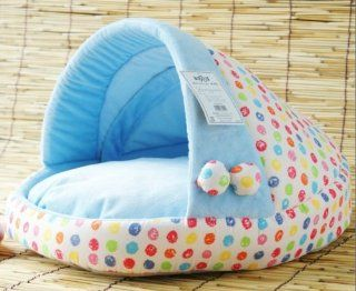 Pretty Blue Soft Pet Dog Cat Bed House Medium Good Quality From Thailand  Colorfulhouse
