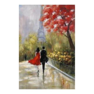 MCS 24 in. x 36 in. Love in Paris Canvas Art 80125