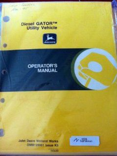 John Deere Diesel Gator Utility Vehicle Operators Manual