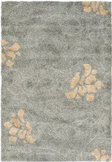 Safavieh Florida Shag Collection SG464 8013 Dark Grey and Beige Area Rug, 8 Feet by 10 Feet