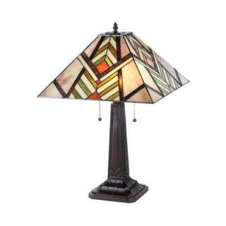 Chloe Lighting Aberle 23 in. Tiffany Style Mission Bronze Table Lamp CH33260MS16 TL2