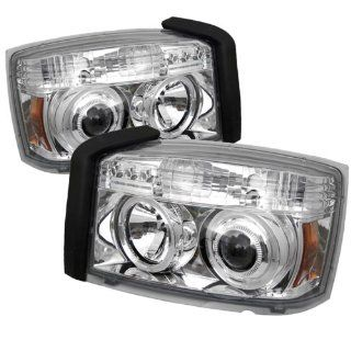 Dodge Dakota 2005 2007 Halo LED Projector Headlights   Chrome  NEW GUARANTEED Automotive