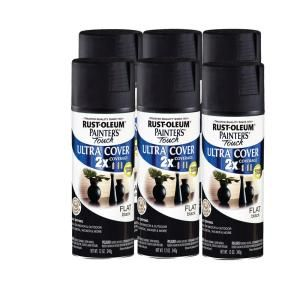 Rust Oleum 12 oz Flat Black Painters Touch (6 Pack) DISCONTINUED 181427