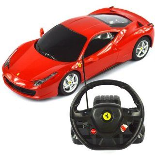 118 Scale Ferrari 458 Italia Model RC Car With Steering controller (COLOR MAY VARY) Toys & Games