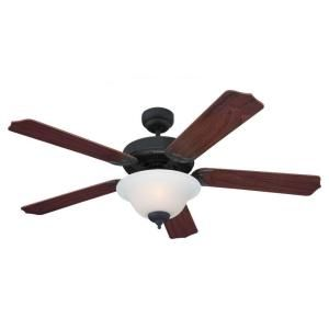 Sea Gull Lighting Quality Max Plus 52 in. Indoor Weathered Iron Ceiling Fan 15030BLE 07