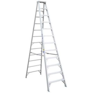 Werner 12 ft. Aluminum Step Ladder with 375 lb. Load Capacity Type IAA Duty Rating 412
