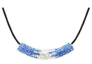 Swarovski Crystal 18k Gold Plated Light Sapphire Concentric Tube Necklace Z#2038 Zg4fb469 Jewelry
