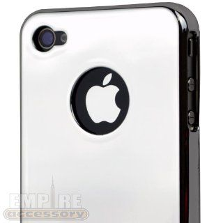 Ultra Slim Logo Hard Case Cover Silver Chrome for Apple iPhone 4 4S 4G 4GS Att, Sprint & Verizon Cell Phones & Accessories