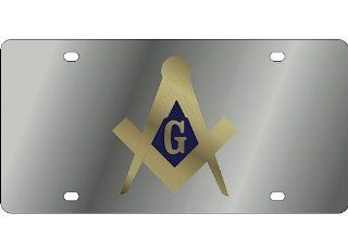 MASONIC Stainless Steel Metal TAG Front Vanity License Plate #493 Automotive