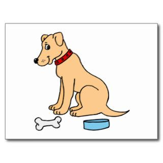 Yellow Labrador Retriever Cartoon Postcard