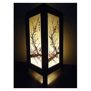 Thai Vintage Handmade ASIAN Oriental CHERRY BLOSSOM TREE Bedside Table Lights or Floor Wood Saa Paper Lamp Home Decor Bedroom Decoration   Cherry Blossom Tree Led