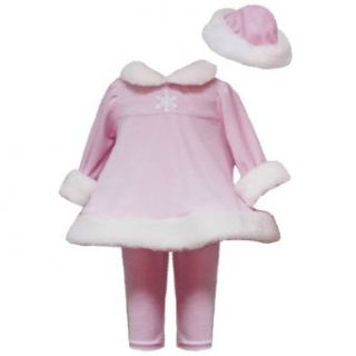 Rare Editions Baby/Infant Girls 3M 24M 3 Piece PINK WHITE FAUX FUR TRIM Christmas Holiday Theme Party Santa Dress Legging/Pants Set 24M RRE 4298H H842980 Infant And Toddler Clothing Sets Clothing