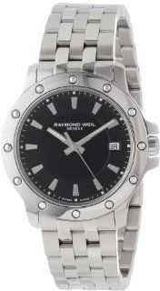 Raymond Weil Men's 5599 ST 20001 Tango Stainless Steel Case and Bracelet Black Dial Watch Watches