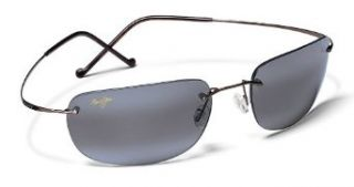 MAUI JIM KAPALUA 502 502 02 GUNMETAL TITANIUM FRAME NEUTRAL GRAY POLARIZED LENS SUNGLASSES SHADES 57MM Clothing