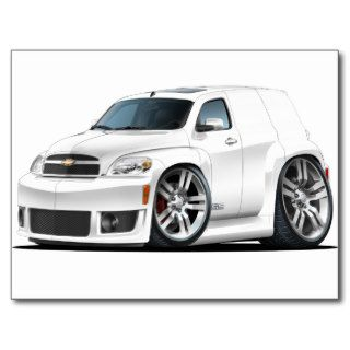 Chevy HHR SS White Panel Truck Post Card